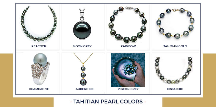 Tahitian Pearl Necklace Colors