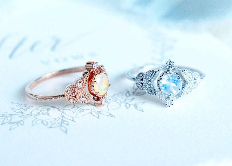 Unique Opal Rings