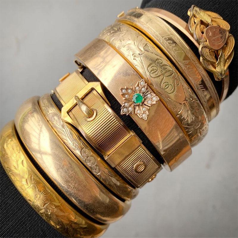 Victorian bangle bracelets