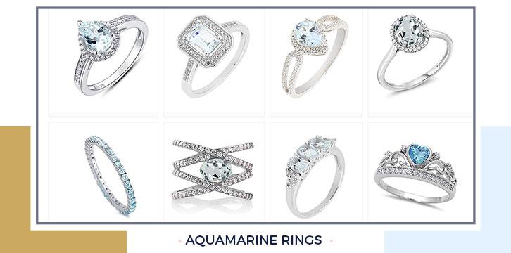 Unique aquamarine ring