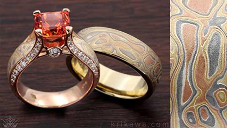Custom-designed Mixed Metal Rings