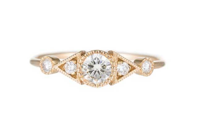 Diamond Duo Deco Spear Ring