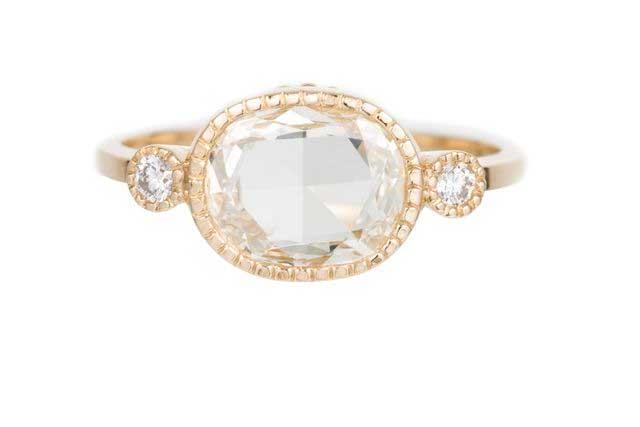 Diamond Oval Slice Elevate Ring