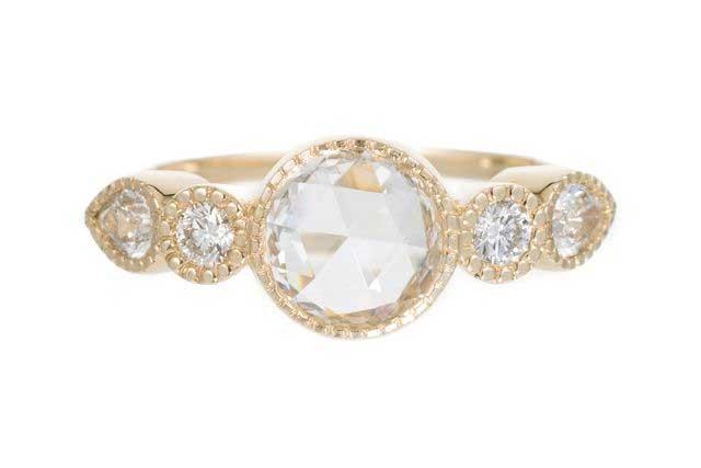 Diamond Round Pear Elevate Ring