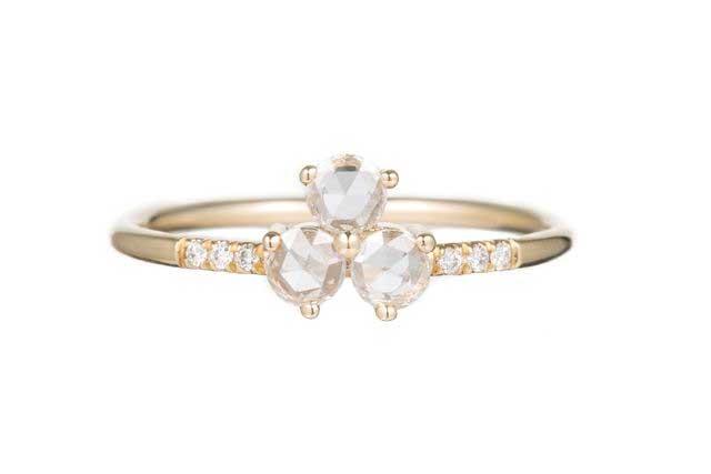 Diamond Triad Equilibrium Ring