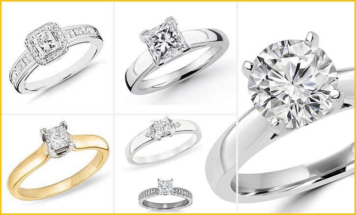 Engagement Rings with Princess Cut Diamonds