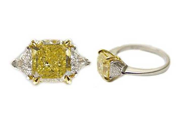 diamond shapes - Fancy Color Radiant Cut Diamond