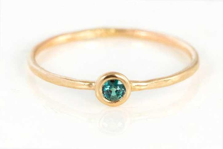 Handmade Alexandrite Stacking Ring