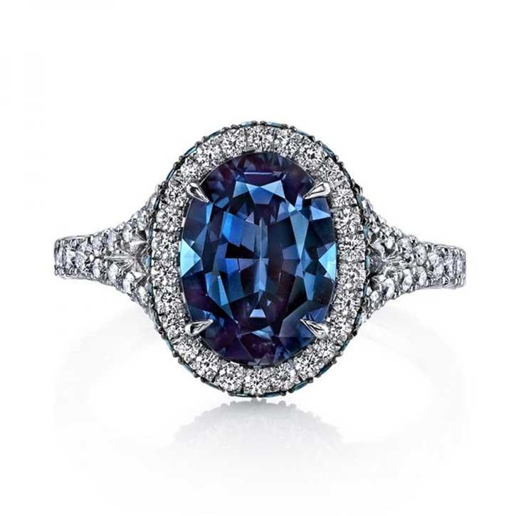Luxury Designer Alexandrite Ring