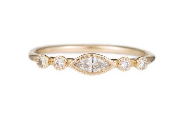 Marquise Diamond Dew Ring