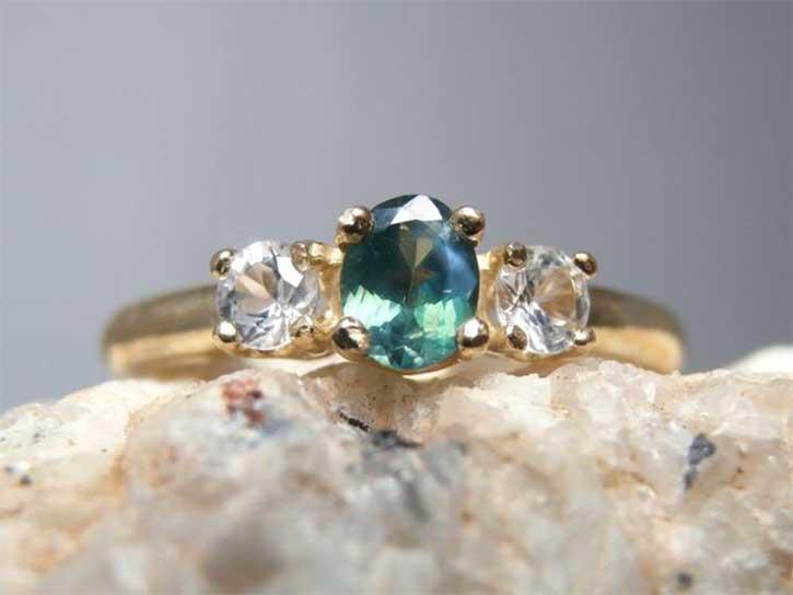 Small Natural Alexandrite Ring