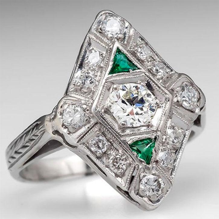 Antique Jewelry Art Deco Diamond Ring