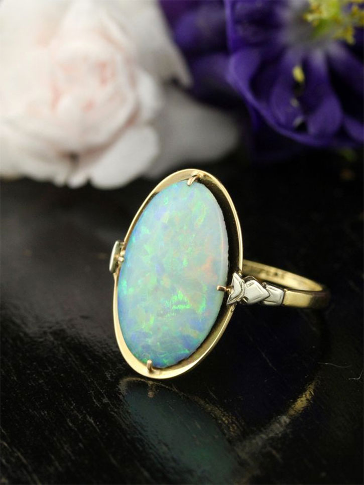 Antique Art Deco Opal Ring
