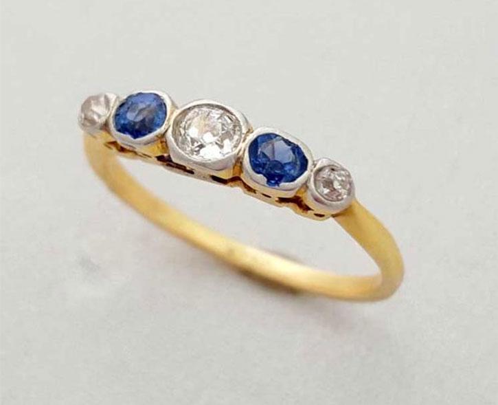 Antique Edwardian Diamond Wedding Ring