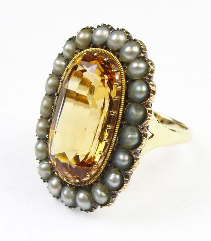 Antique Edwardian Topaz Ring