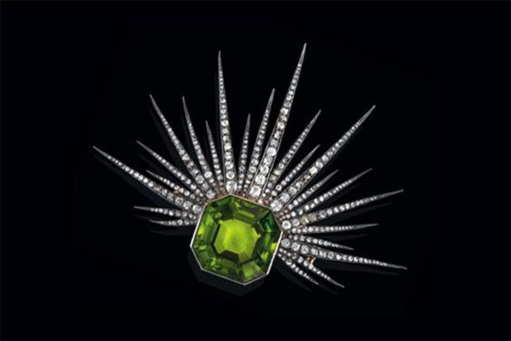 Antique Peridot Brooch