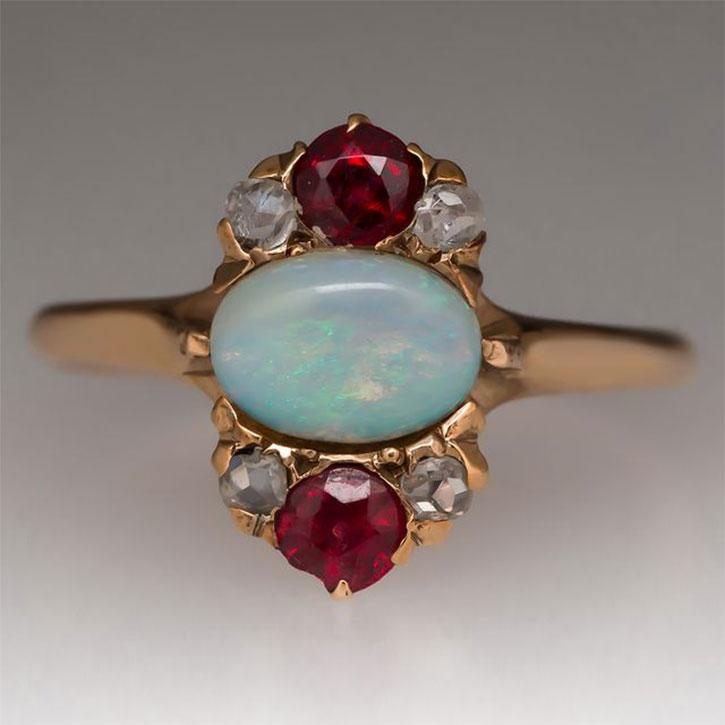 Antique Victorian Opal