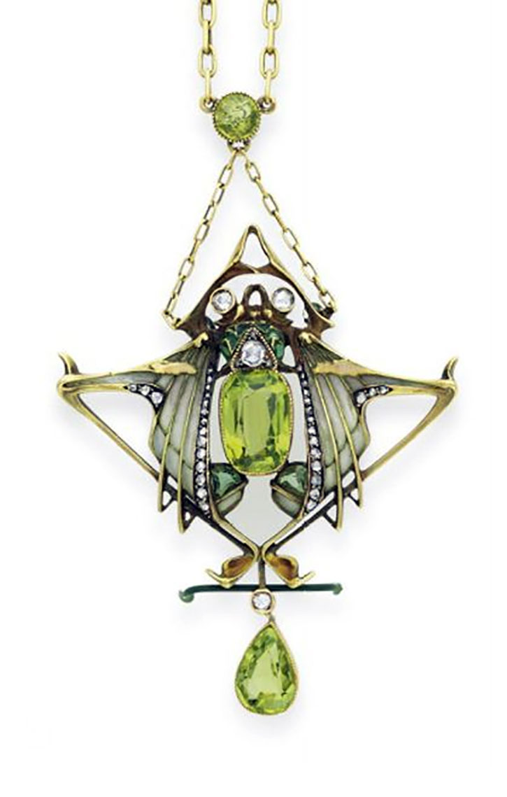 Art Nouveau Peridot Necklace