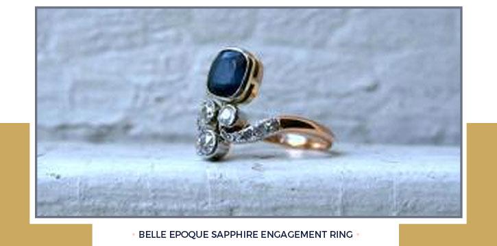 Belle Epoque Sapphire Engagement Ring