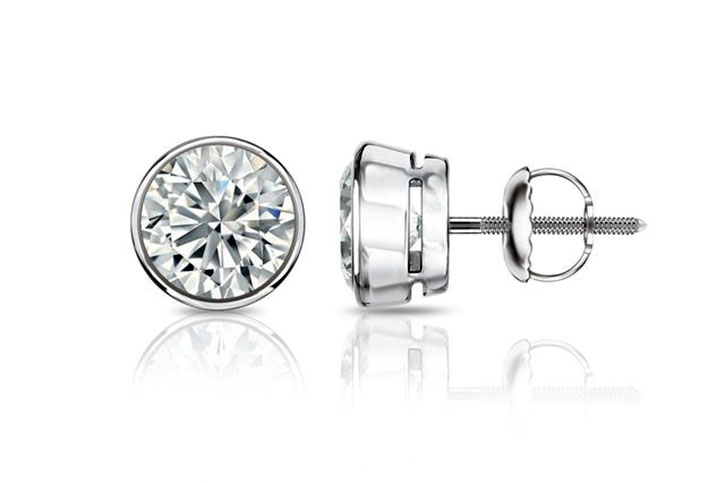 Bezel Setting Diamond Studs