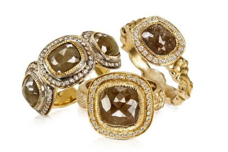 Brown Diamond Women's Wedding Rings