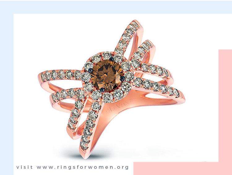 Craving chocolate diamond ring