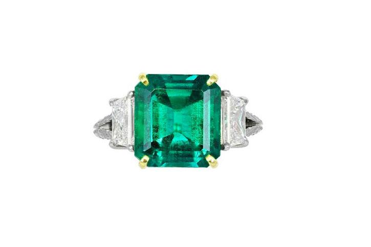 Emerald Engagement Rings Crump Low