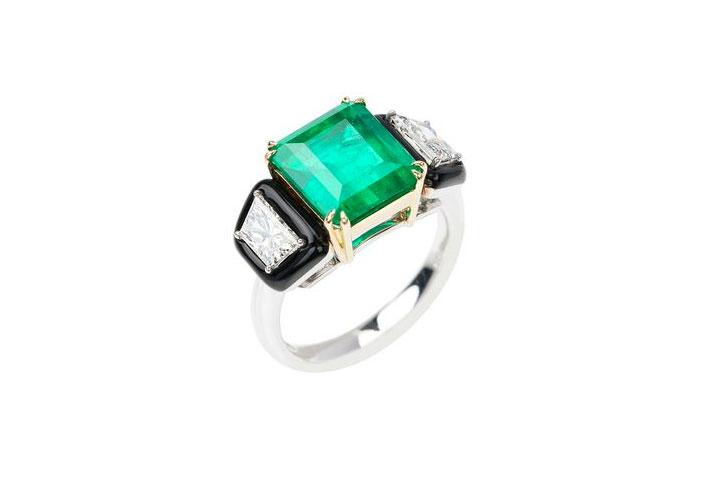 Emerald Engagement Rings Nikos Koulis