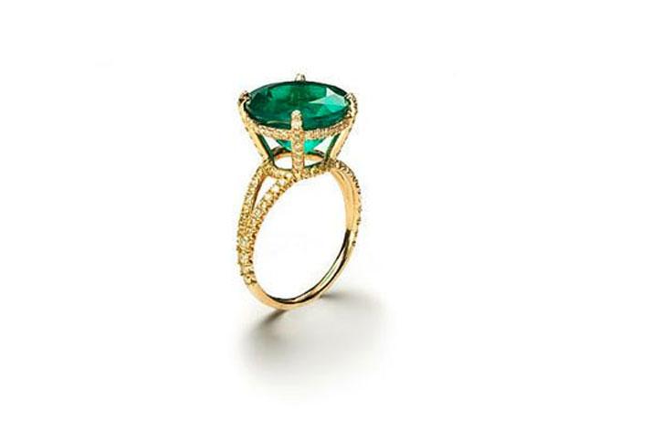 Emerald Engagement Rings Nora Kogan