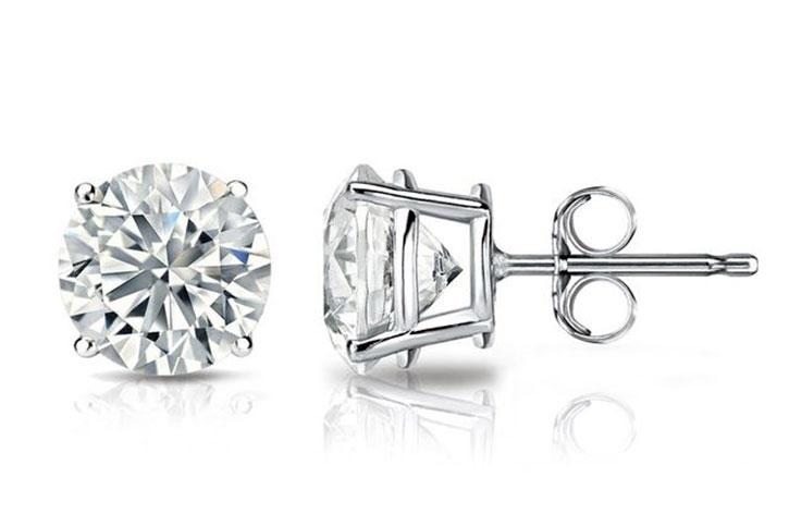 Four Prong Setting Diamond Studs