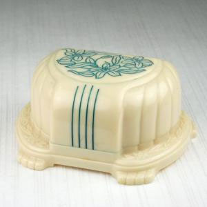 Large Engraved Ivory Vintage Celluloid Ring Box
