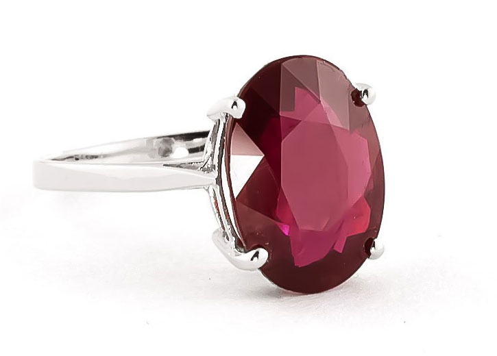 Large Ruby Solitaire Ring