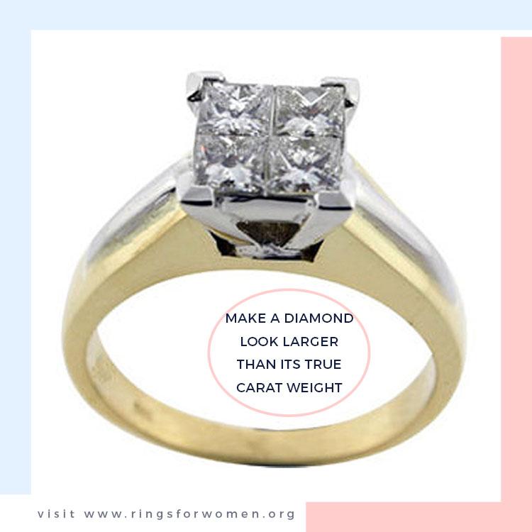 Make a Diamond Look Larger than its True Carat Weight