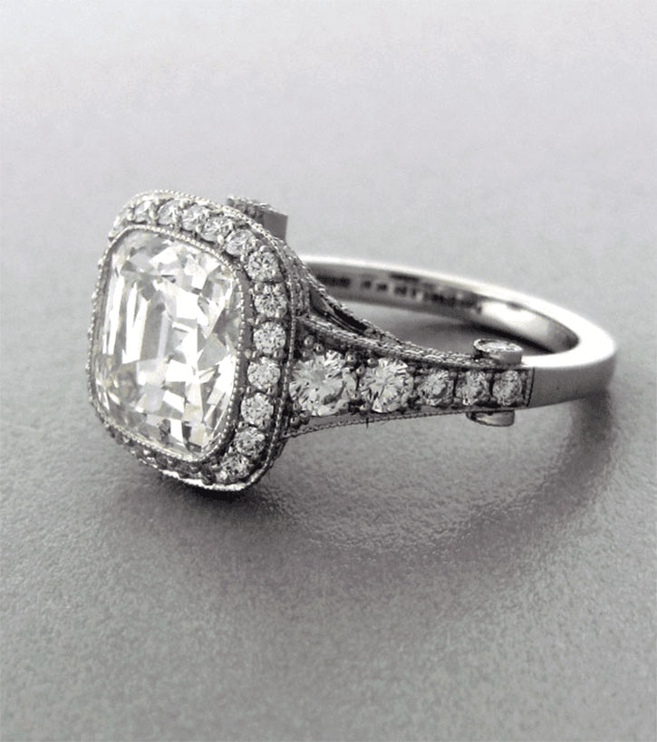 Modern Cushion Cut Legacy Diamond Engagement Ring