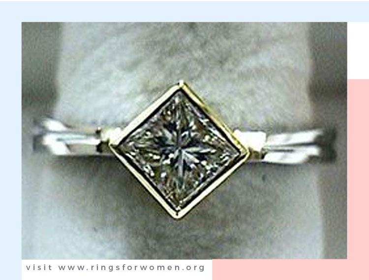 Princess Cut Diamond in a Bezel Setting