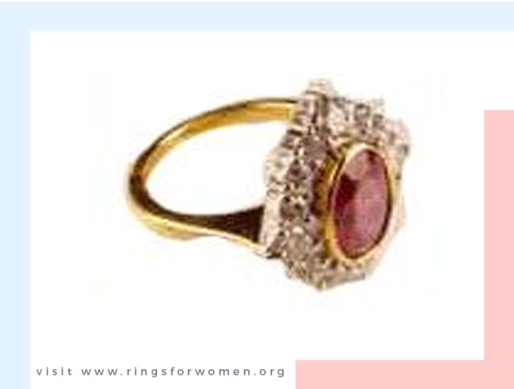 Ruby and Diamonds in a Bezel Setting