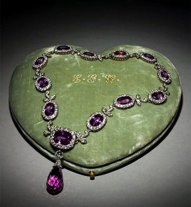 Victorian Amethyst Diamond Necklace