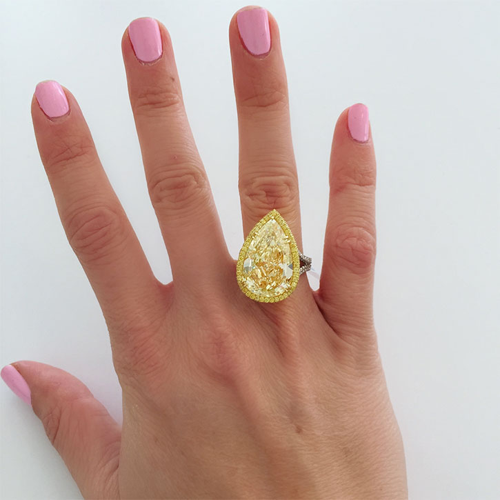 Yellow Diamond Bridal Rings