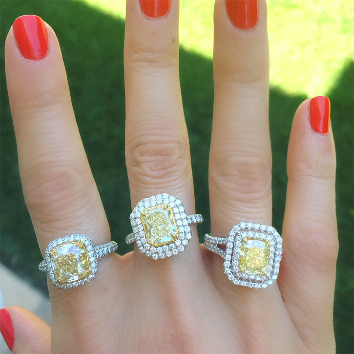 yellow diamond rings for sale