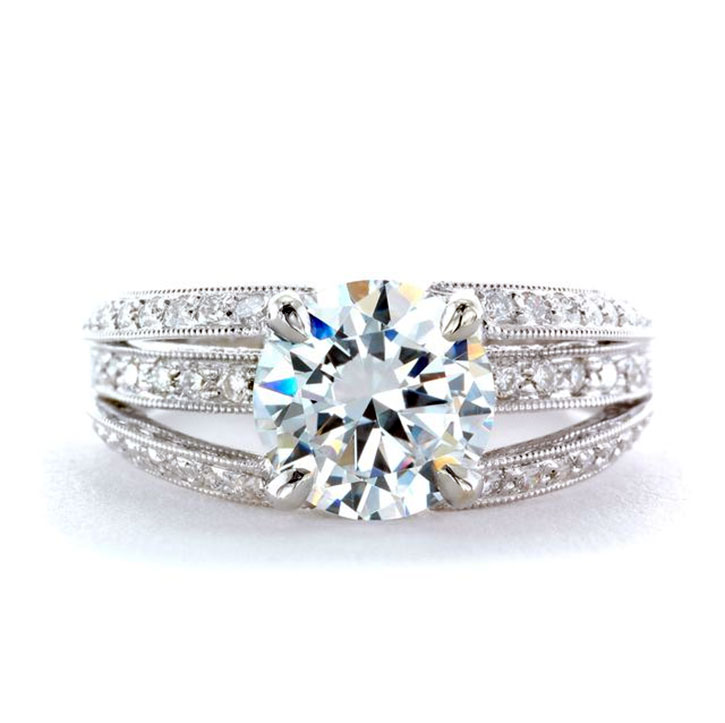 diamond and moissanite