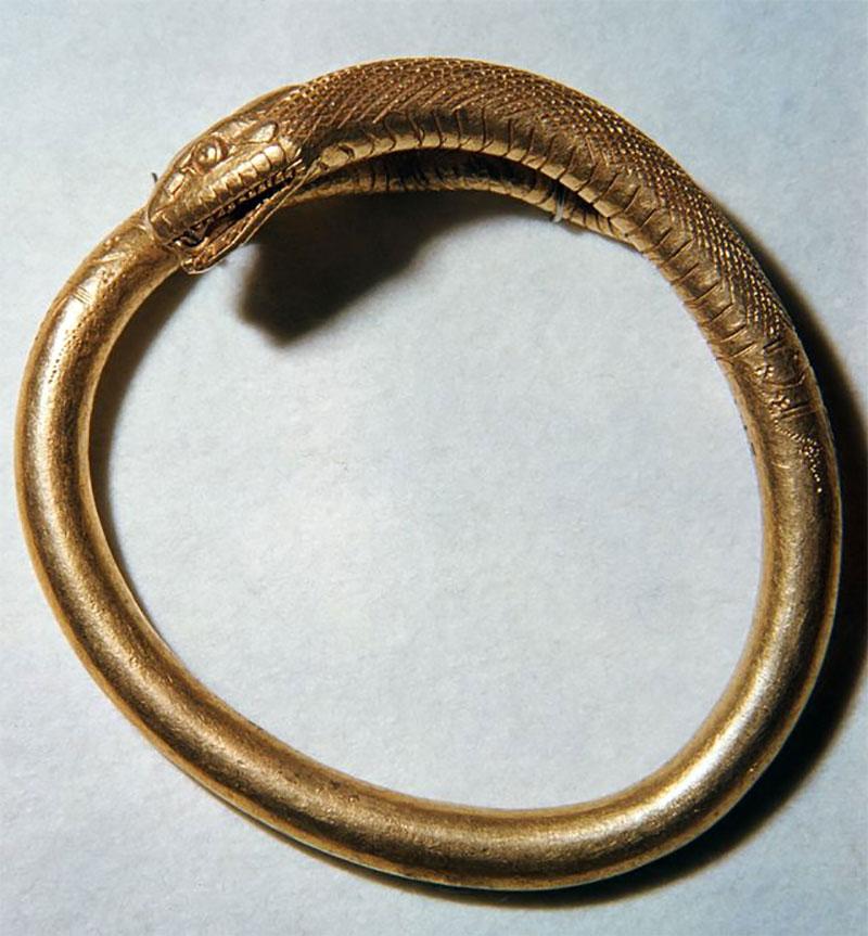 Ancient Gold Snake Bracelet