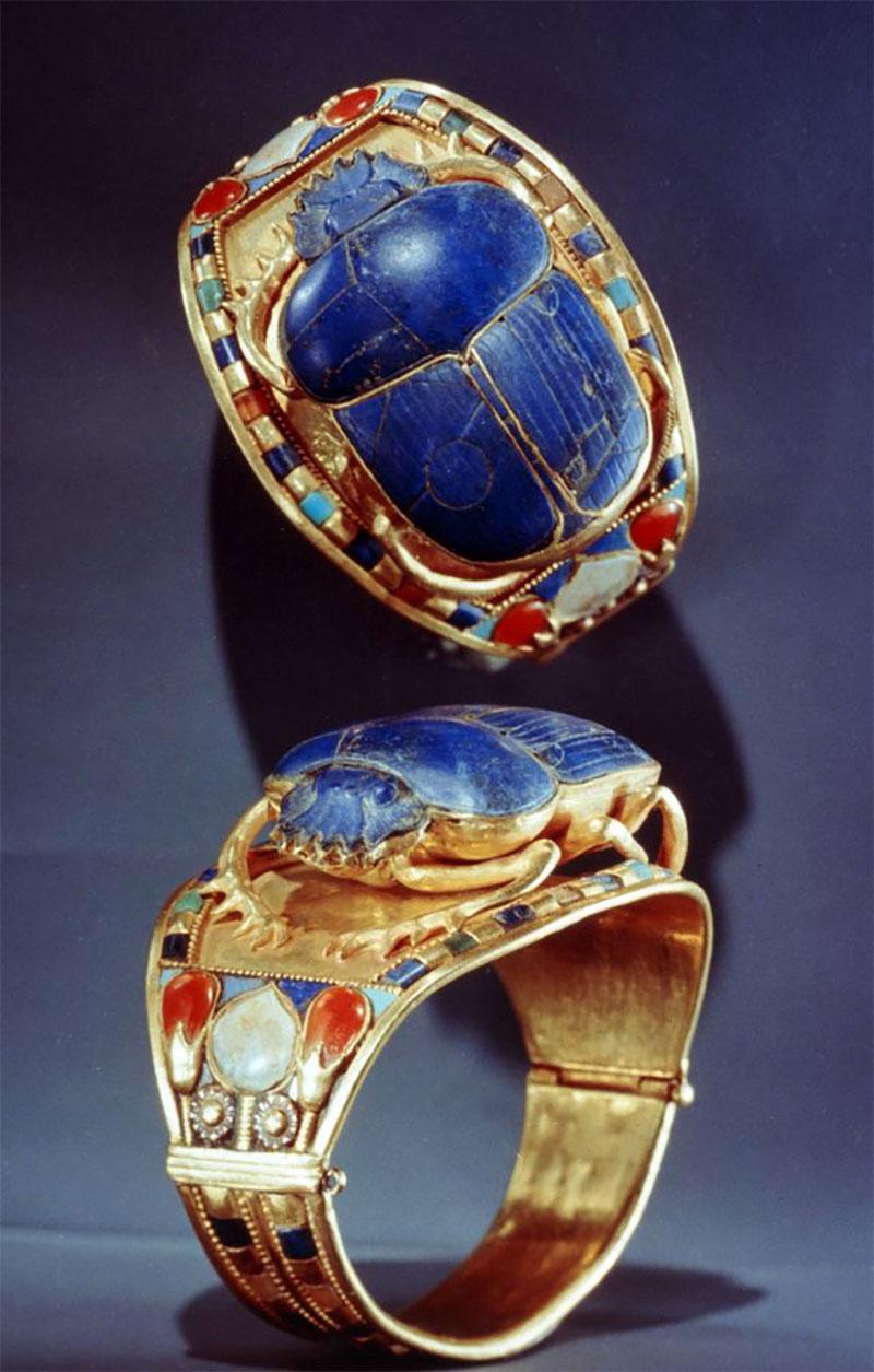 Ancient Scarab Bracelet