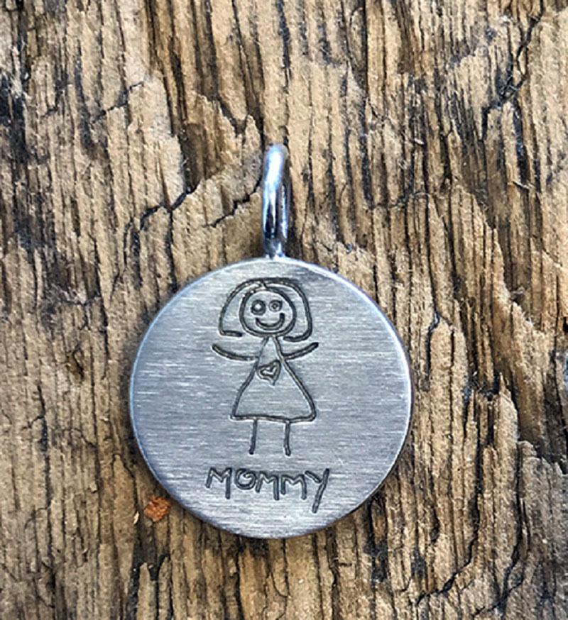 Fingerprint Mementos of your Kids' Artwork
