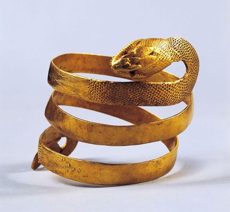Golden Snake Wrap Bracelet