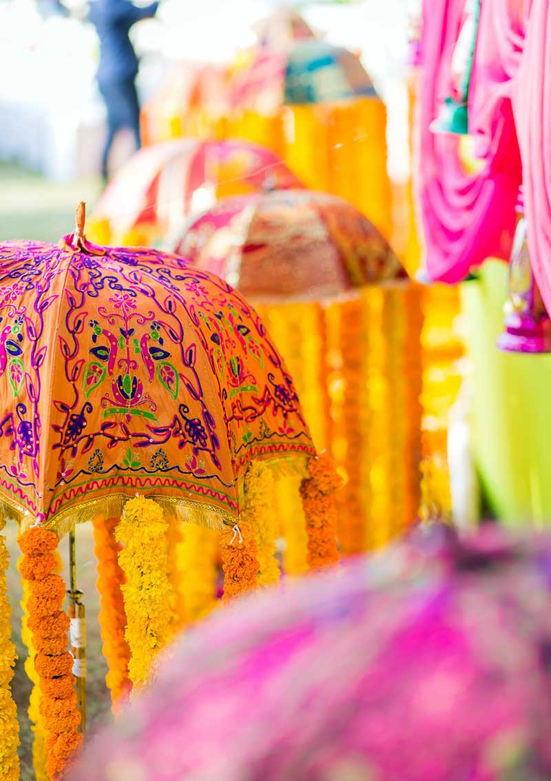 Colorful Mehendi Decor