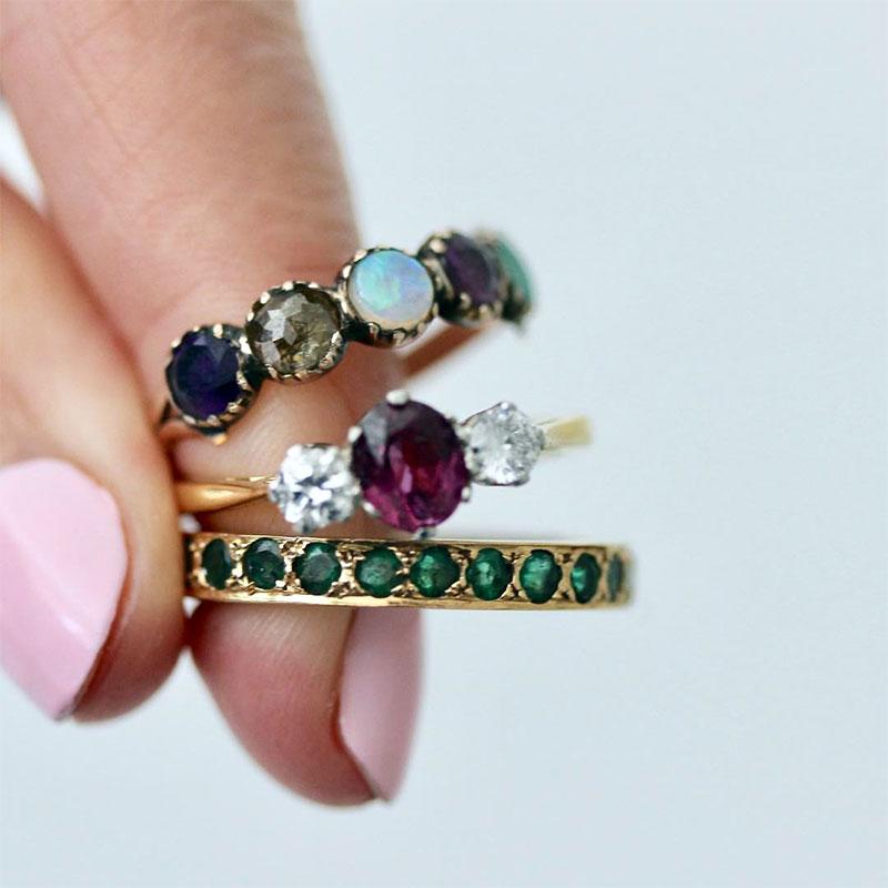 Gemstones Engagement Rings