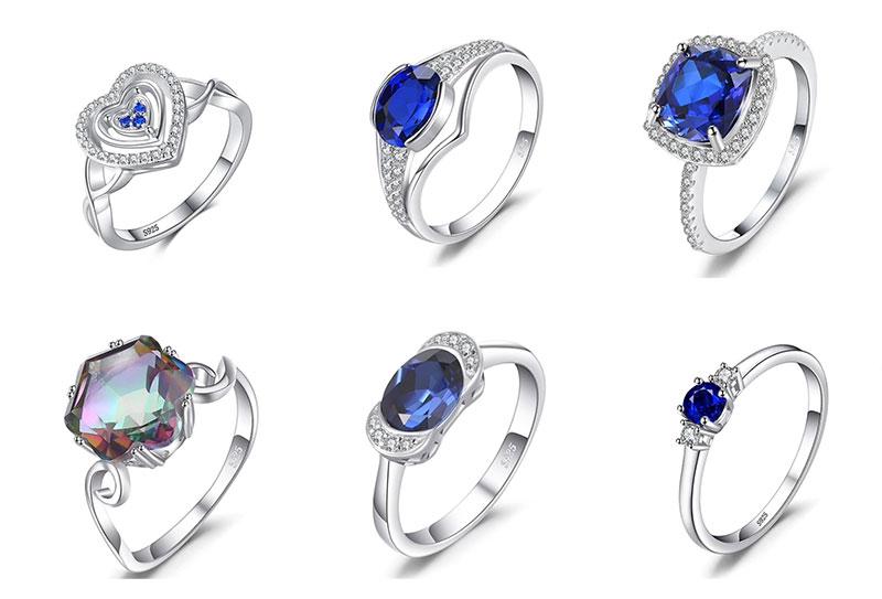 Glamorous engagement rings