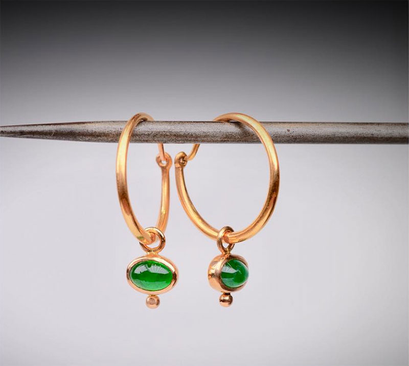 Brazilian Emerald Earrings