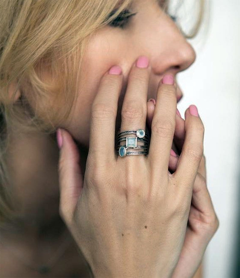 Chalcedony Rings