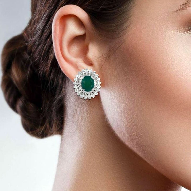 Emerald Studs Earrings